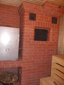 Банная печь с баком для нагрева воды