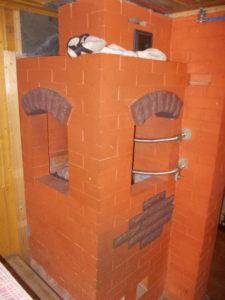 Банная печь с водяным баком