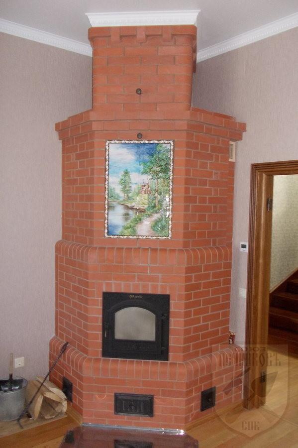 Отопительная печь с большой дверцей