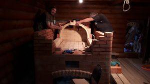 Продолжение строительства русской печи