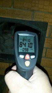 Тестирование температуры камней банной печи