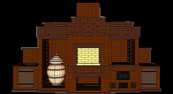 Кухонный комплекс барбекю с тандыром