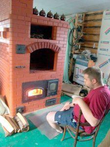 Отопительная печь с варочной панелью Печники Санкт-Петербурга Союз Печников СПб