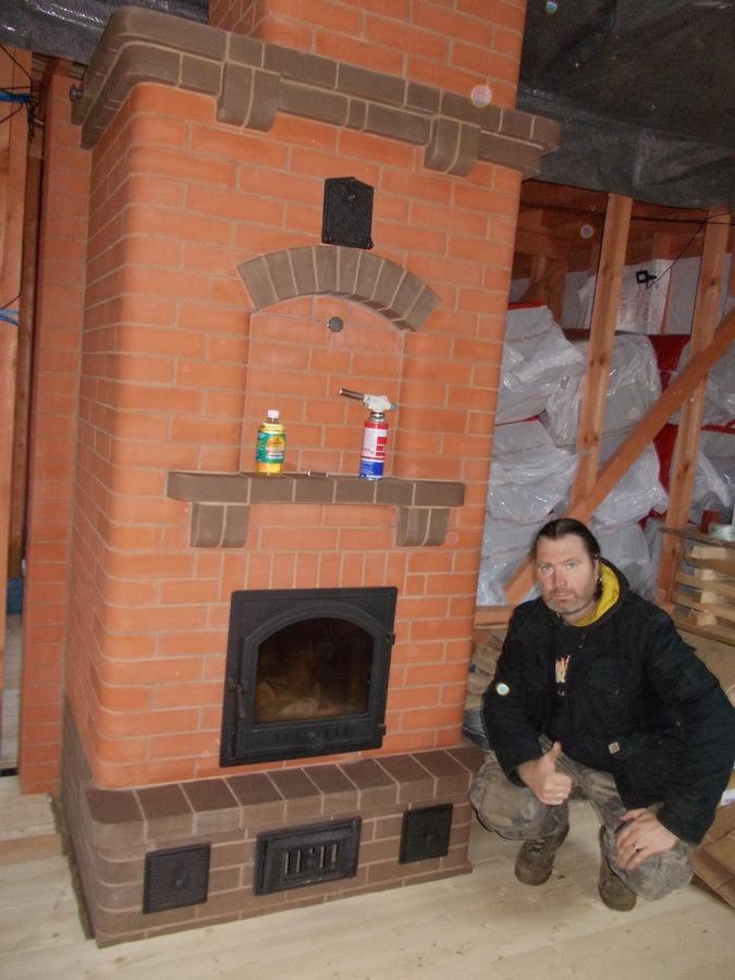 Отопительная каминопечь во Васкеловском районе