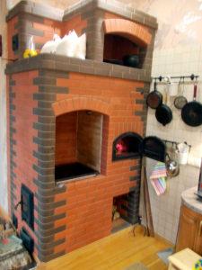 Отопительная печь с варочной панелью